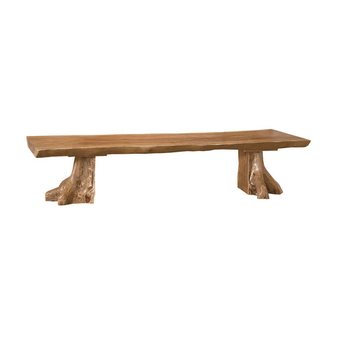 Elk Lighting Teak Slab Bench