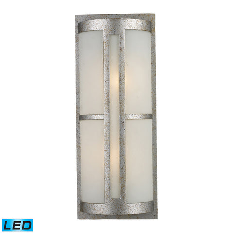 Elk Lighting Trevot 1-Light Outdoor Wall Mount in Sunset Silver