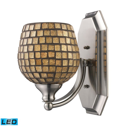 Elk Lighting Vanity 1 Light Vanity in Polished Chrome & Gold Mosaic Glass