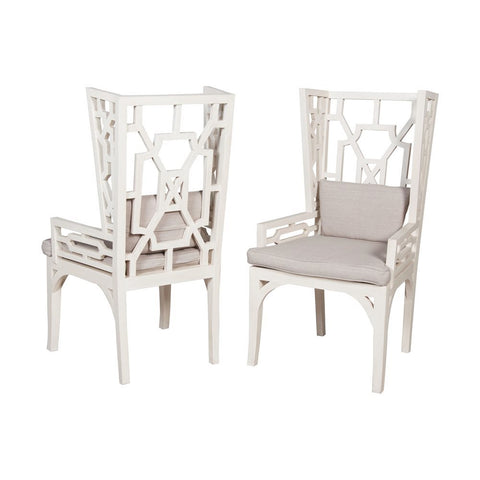 Elk Manor Wing Chair -  Set-2 - Cushions included