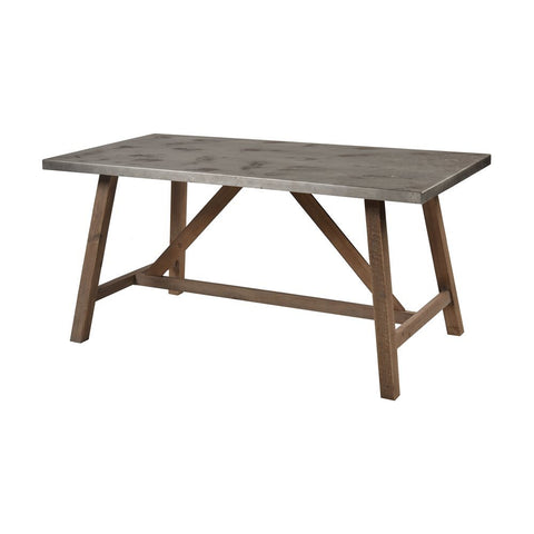 Elk Perot Dining Table in Natural Wood and Concrete