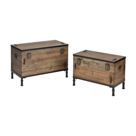 Elk Polo Storage Chests (Set of 2)
