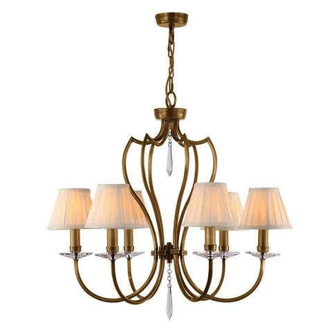Elstead Lighting Pimlico 6lt Chandelier Aged Brass