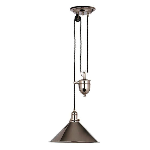 Elstead Lighting Provence Rise & Fall Pendant Polished Nickel