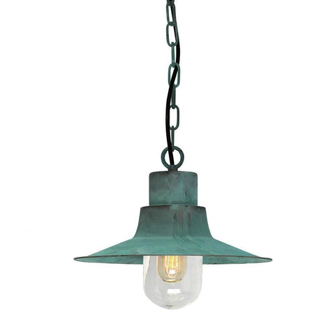Elstead Lighting Sheldon Verdigris Chain Lantern