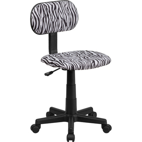 Flash Furniture Black & White Zebra Print Computer Chair - BT-Z-BK-GG