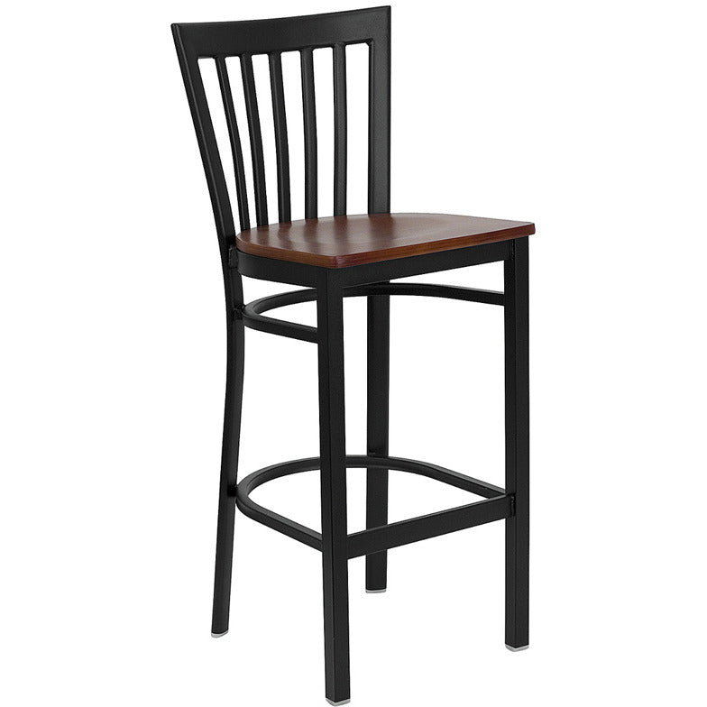 Flash Furniture Hercules Series Black School House Back