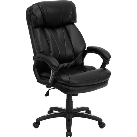 Flash Furniture Hercules Series High Back Black Leather Executive Office Chair - GO-1097-BK-LEA-GG