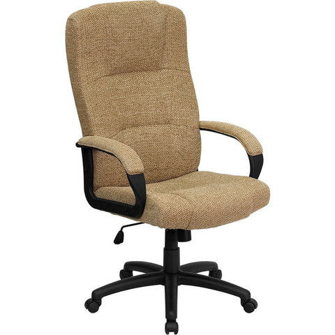 Flash Furniture High Back Beige Fabric Executive Office Chair - BT-9022-BGE-GG