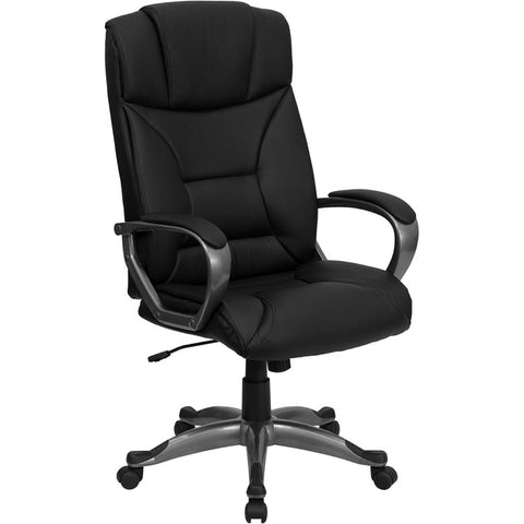 Flash Furniture High Back Black Leather Executive Office Chair - BT-9177-BK-GG