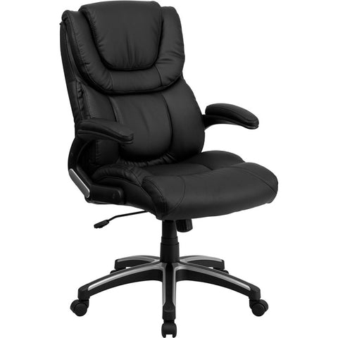 Flash Furniture High Back Black Leather Executive Office Chair - BT-9896H-GG