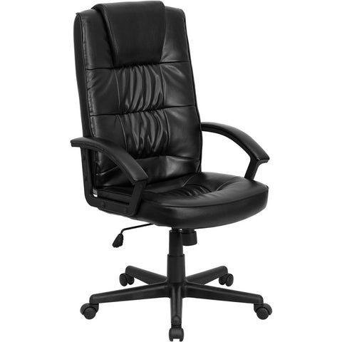 Flash Furniture High Back Black Leather Executive Office Chair - GO-7102-GG