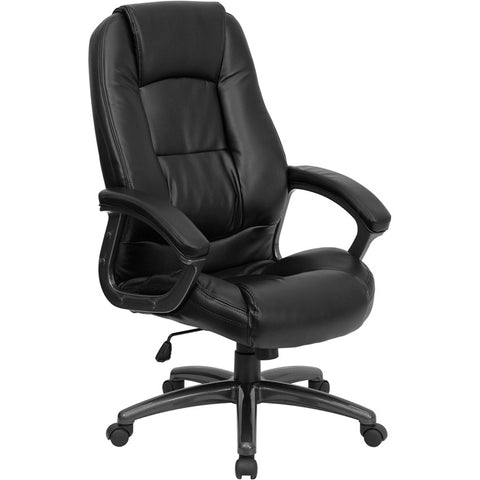 Flash Furniture High Back Black Leather Executive Office Chair - GO-7145-BK-GG