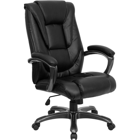 Flash Furniture High Back Black Leather Executive Office Chair - GO-7194B-BK-GG