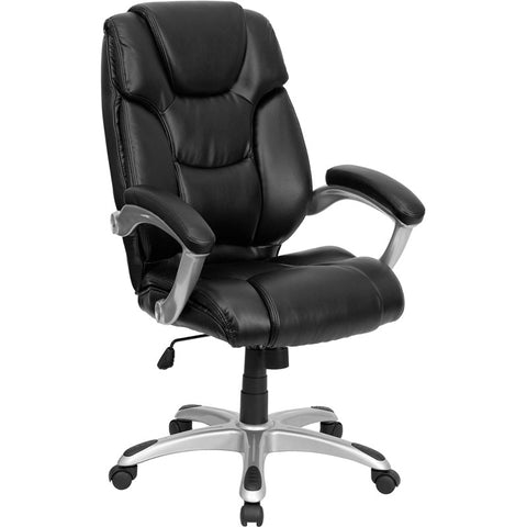 Flash Furniture High Back Black Leather Executive Office Chair - GO-931H-BK-GG