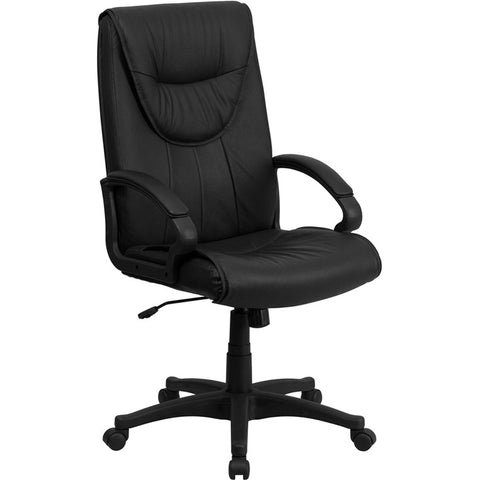 Flash Furniture High Back Black Leather Executive Swivel Office Chair - BT-238-BK-GG
