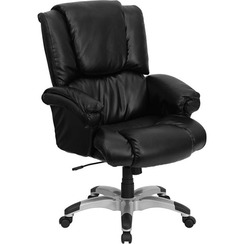 Flash Furniture High Back Black Leather OverStuffed Executive Office Chair - GO-958-BK-GG