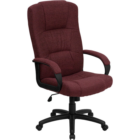 Flash Furniture High Back Burgundy Fabric Executive Office Chair - BT-9022-BY-GG