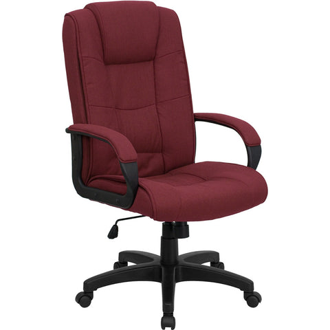 Flash Furniture High Back Burgundy Fabric Executive Office Chair - GO-5301B-BY-GG
