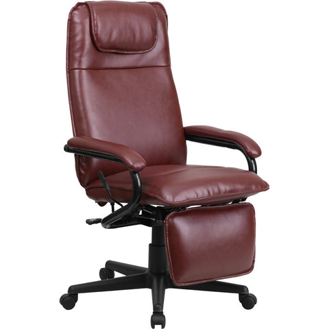Flash Furniture High Back Burgundy Leather Executive Reclining Office Chair - BT-70172-BG-GG