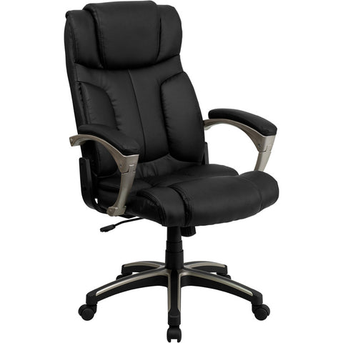 Flash Furniture High Back Folding Black Leather Executive Office Chair - BT-9875H-GG