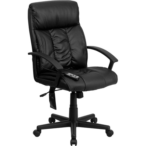 Flash Furniture High Back Massaging Black Leather Executive Office Chair - BT-9578P-GG