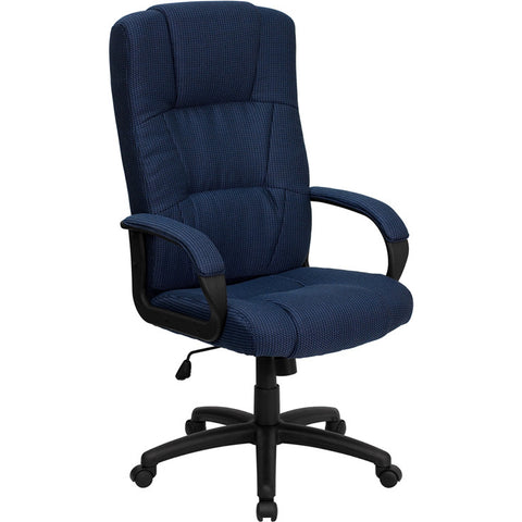 Flash Furniture High Back Navy Fabric Executive Office Chair - BT-9022-BL-GG