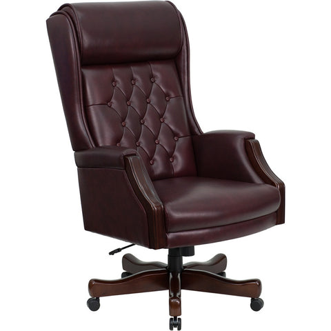 Flash Furniture High Back Traditional Tufted Burgundy Leather Executive Office Chair - KC-C696TG-GG