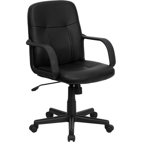 Flash Furniture Mid-Back Black Glove Vinyl Executive Office Chair - H8020-GG