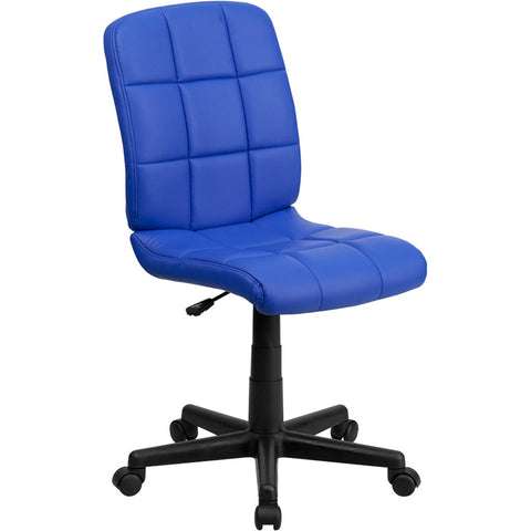 Flash Furniture Mid-Back Blue Quilted Vinyl Task Chair - GO-1691-1-BLUE-GG