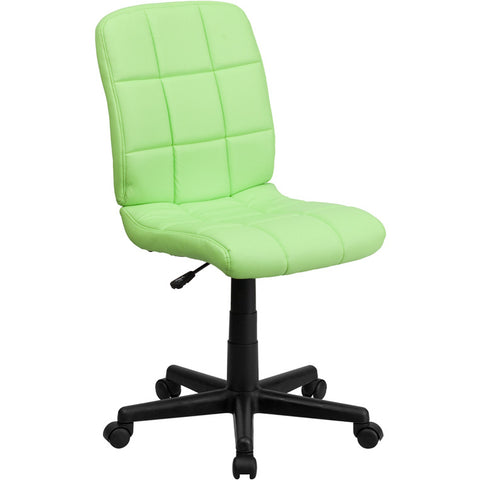 Flash Furniture Mid-Back Green Quilted Vinyl Task Chair - GO-1691-1-GREEN-GG