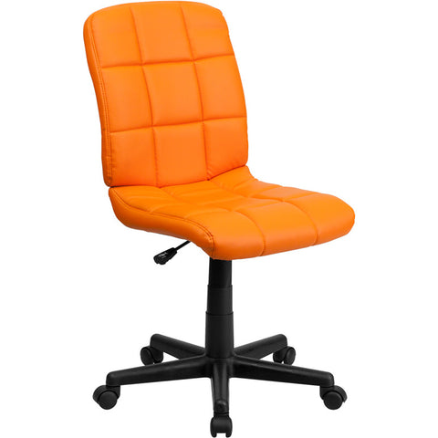 Flash Furniture Mid-Back Orange Quilted Vinyl Task Chair - GO-1691-1-ORG-GG