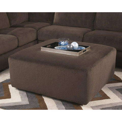 Flash Furniture Signature Design By Ashley Jessa Place Oversized Ottoman In Chocolate Fabric