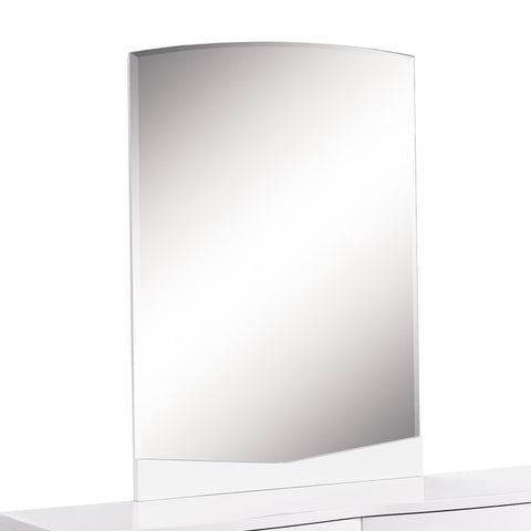 Global USA Aurora Beveled Mirror in White