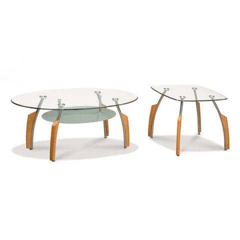 Global Furniture 2 Piece Coffee Table Set in Beech