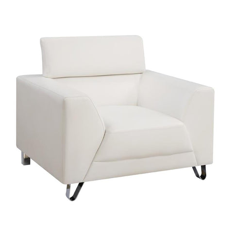 Global Furniture Chair in Brilliant Pure White