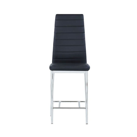 Global Furniture D368BS Black Padded Barstool w/Stainless Steel Legs