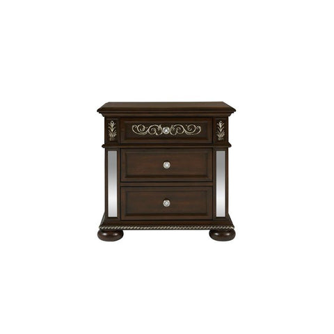 Global Furniture Diana Brown Nightstand w/USB Port