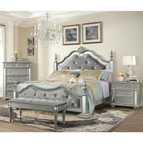 Global Furniture Diana Silver Poster Bed