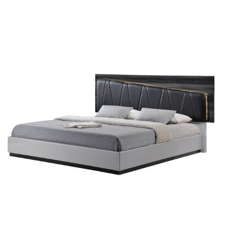 Global Lexi Bed Silver Line And Zebra Grey
