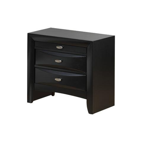 Global Linda Nightstand Black