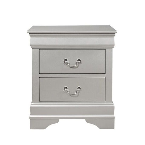 Global Furniture Marley Silver Nightstand