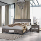Global Furniture Seville 2 Piece Grey Platform Bedroom Set