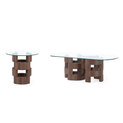 Global Furniture T866 2 Piece Art Deco Design Coffee Table Set