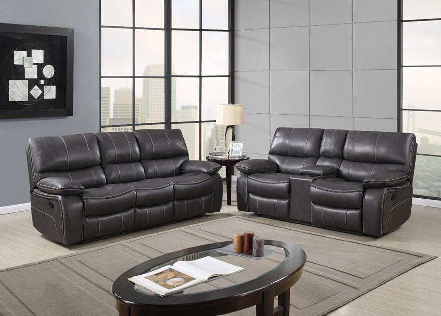 Pleasant Global Furniture U0040 Console Reclining Loveseat In Grey Leather Forskolin Free Trial Chair Design Images Forskolin Free Trialorg