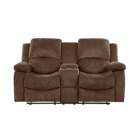 Global Furniture U3118C Extra Plush Coffee Console Reclining Loveseat