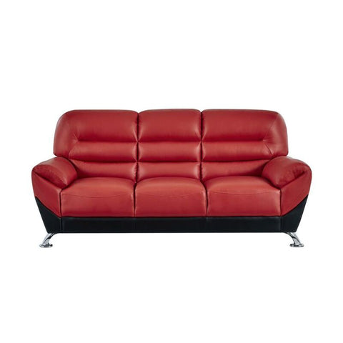 Global Furniture U9105 Flared Arms Red & Black Chair