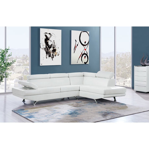 Global Furniture White Sectional