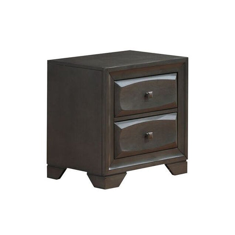 Global Furniture Wyatt Nightstand in Antique Grey