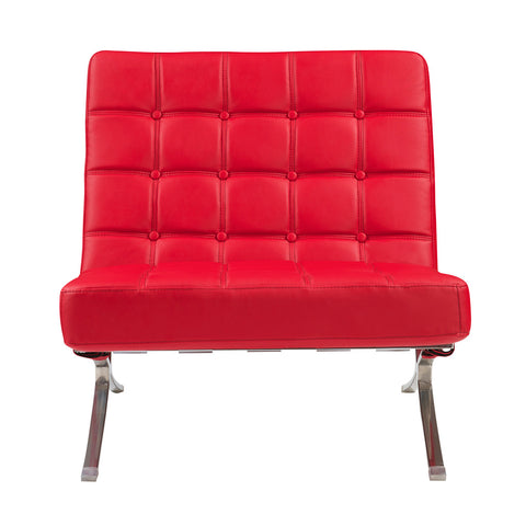 Global U6293-R-CH Chair in Red Leather